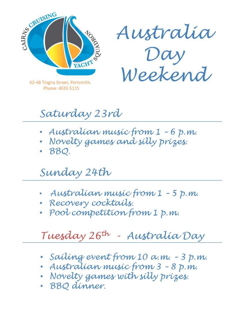Australia Day flyers (3)