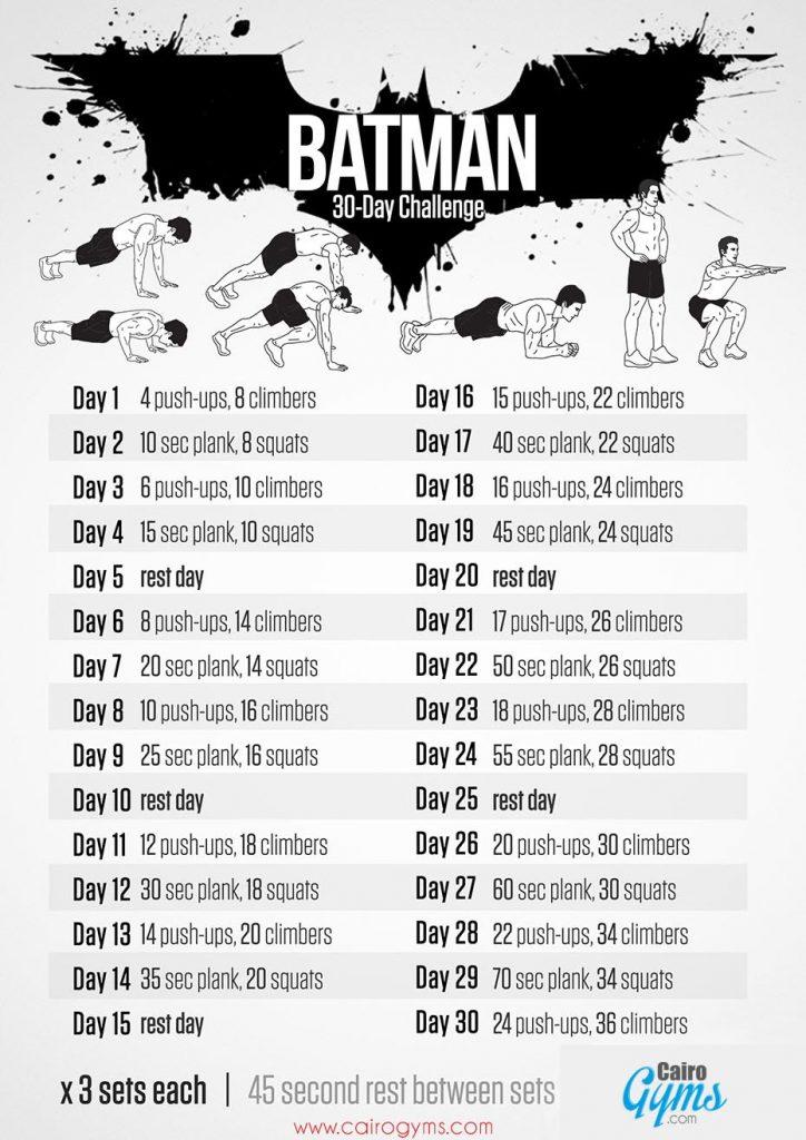 Your Summer Body Needs The Batman Fitness Challenge
