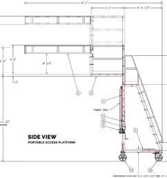 portable access platform railcar dimensions [ 1300 x 961 Pixel ]