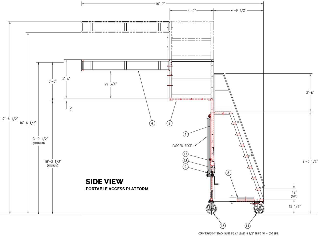 hight resolution of  portable access platform railcar dimensions