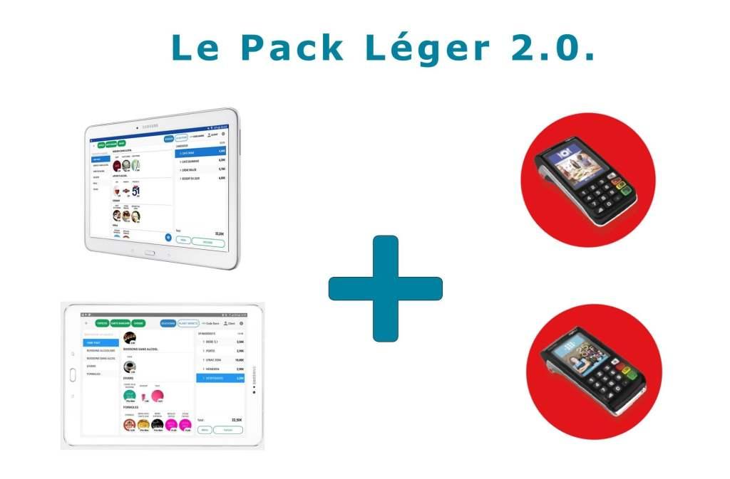 Pack Commercill : Tablette caisse enregistreuse avec TPE Ingenico