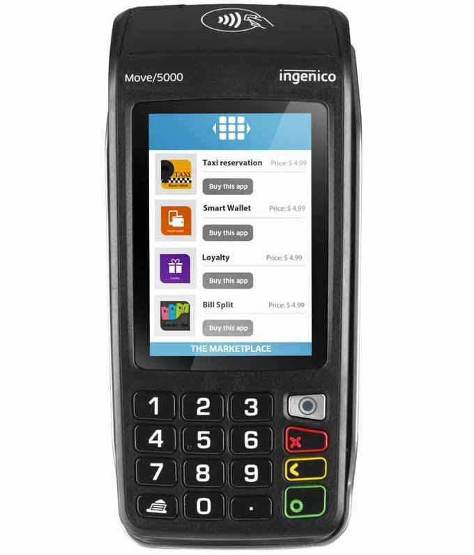 Boitier CB Ingenico Move 5000 Bluetooth sans contact IP avec installation carte de domiciliation (jusqu'à 7!)