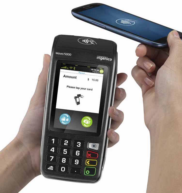 Lecteur carte Ingenico Move 5000 pour paiement mobile sans contact