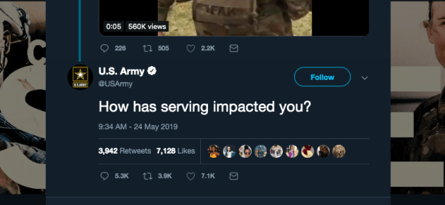 The US Army Asked Twitter How Service Has Impacted People