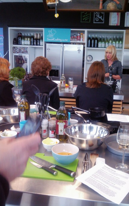 Annabel cooking up a storm at Social Cooking
