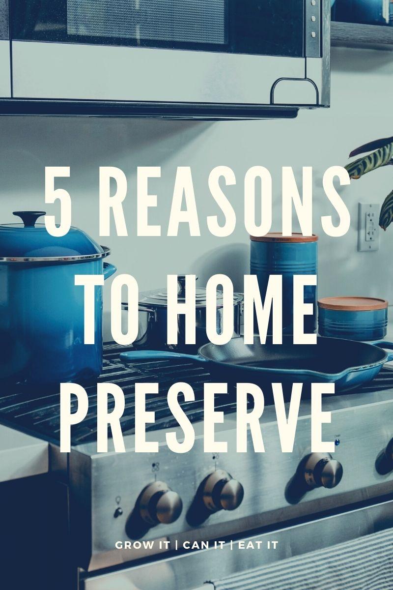 5 Reasons Why I Home Preserve