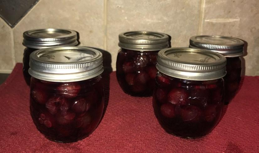 Finished Drunken cherries