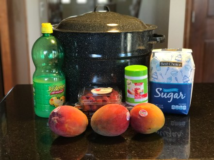 Mango & Raspberry Jam Ingredients