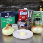 Ingredients for French Onion Soup