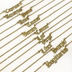Zodiac Signs Gold Necklace