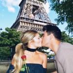 Paris couple goals, Eiffel tower kiss, adventure couple, adventure goals, adventure couple goals