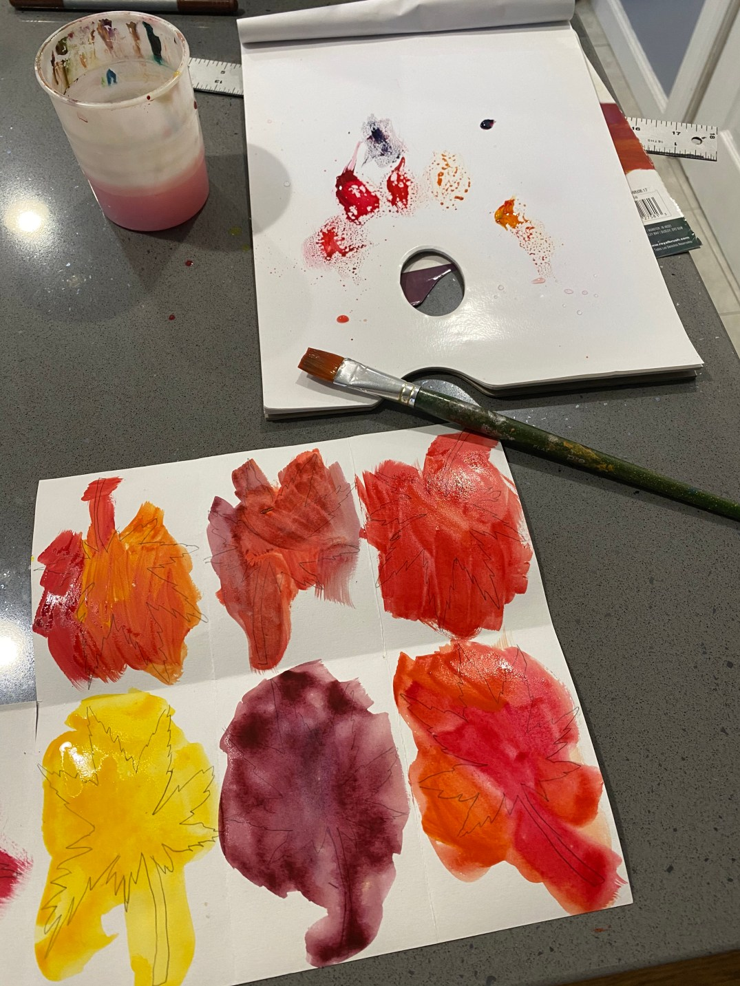 Or, you can also paint your leaves with acrylic or watercolor.