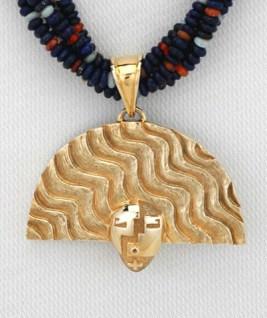 Nurtured by Prayer Pendant - Gold - Detail