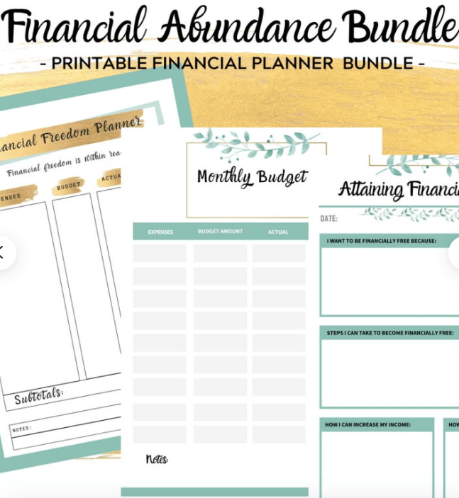 Financial Freedom Planner | Printable Financial Planner | Money Mindset Planner