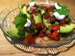 Avocado Boats with Salsa