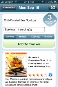 Chili-Crusted Sea Scallops WW Mobile App Recipe