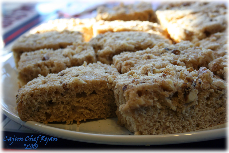 Buttermilk Coffee Cake cut and ready to serve