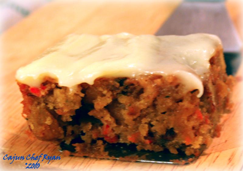 Rum Raisin Carrot and Zucchini Cake