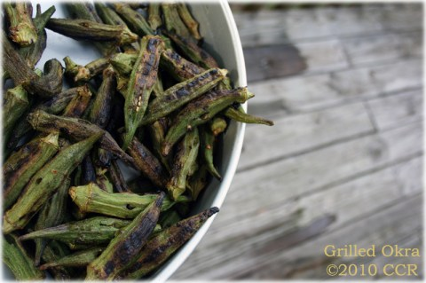 Grilled Okra ready to serve
