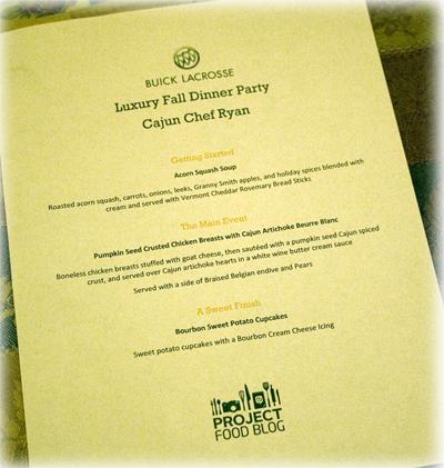 Luxury Fall Dinner Party Menu