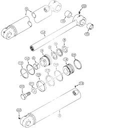 233114A2- Case Dipper Cylinder (570LXT, 580L, 580M