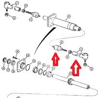Case 580 Steering Cylinder, Case, Free Engine Image For