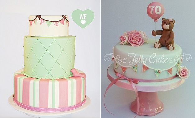 Edible Icing Sheets With Cake By Couture Cupcakes Com Au Left And