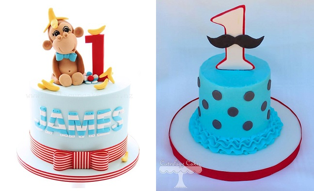 1st Birthday Car And Cloud Cake