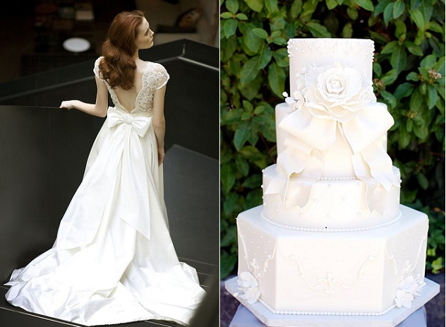 Wedding Cakes With Couture Bows