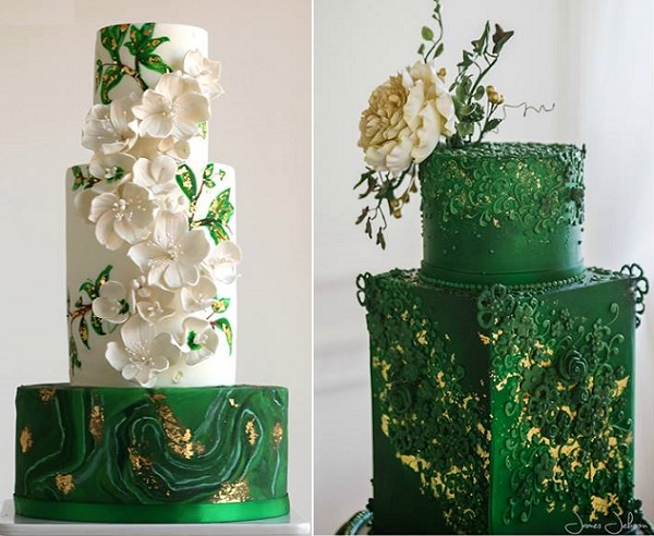 Foliage Amp Greenery Decorated Wedding Cakes 2017 Wedding