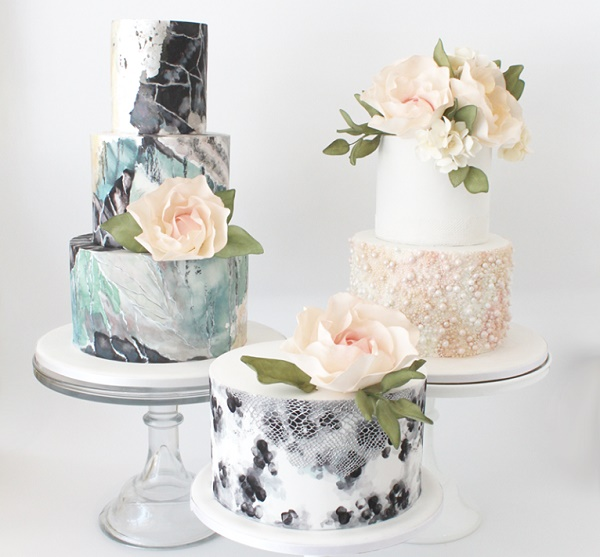 Wedding Cakes Inspired By Geology Marble Agate Geodes Precious