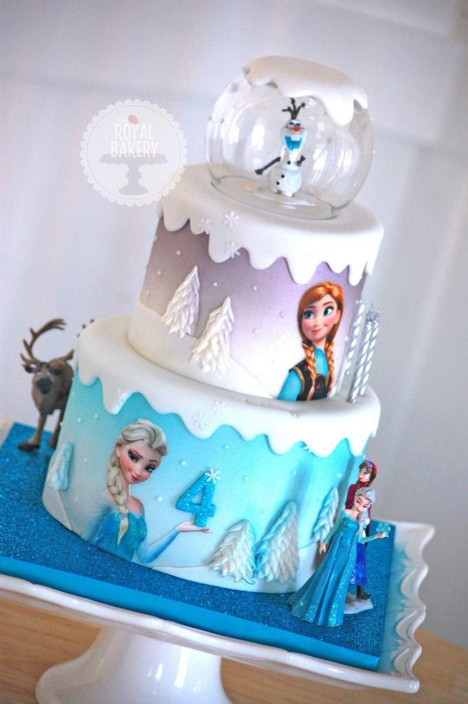 Show Me Elsa And Anna Birthday Cake