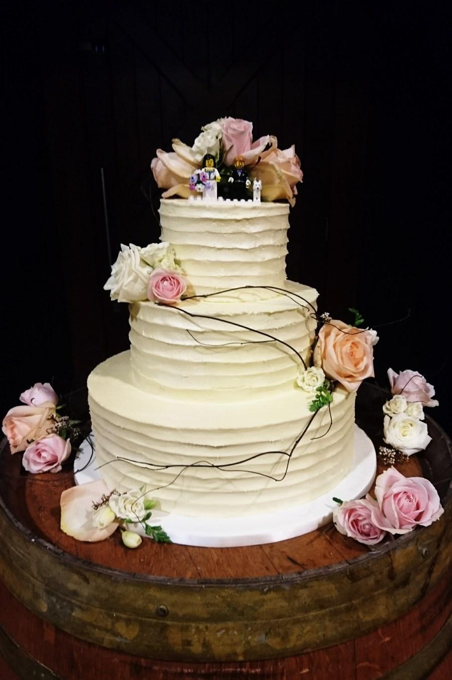 Forest inspired wedding cake