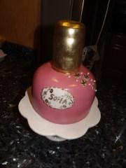 nail polish bottle cake