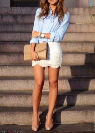 Chemise & Mini jupe - Pinterest favorites