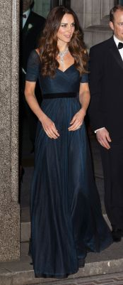 Kate Middleton - Long Dark Blue Gown