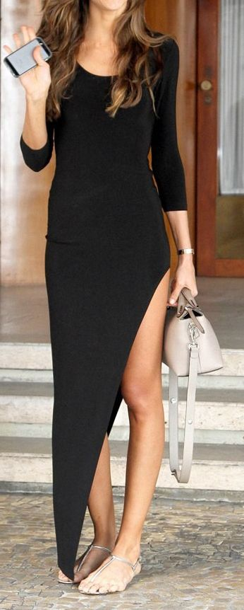 Robe noire asymétrique - Pinterest favorites