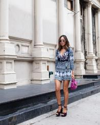 Aimee Song after the DVF Fashion Show