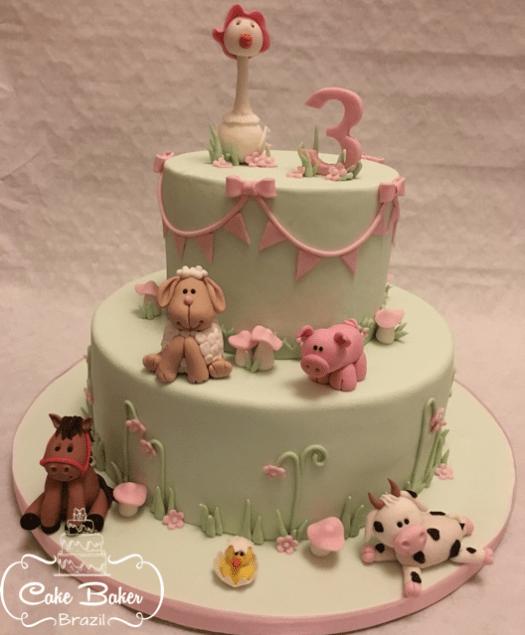 Bolos Para Meninas Cakes For Girls Cakebakerbrasil