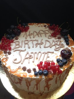 Vanilla salted caramel cake