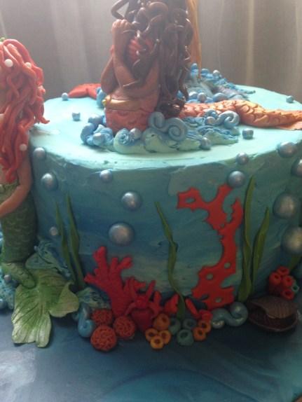Gluten-free red velvet Mermaids under the sea cake.