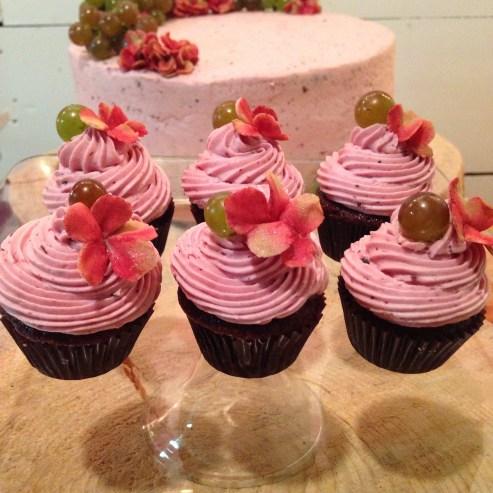 Gluten free chocolate berry cupcakes