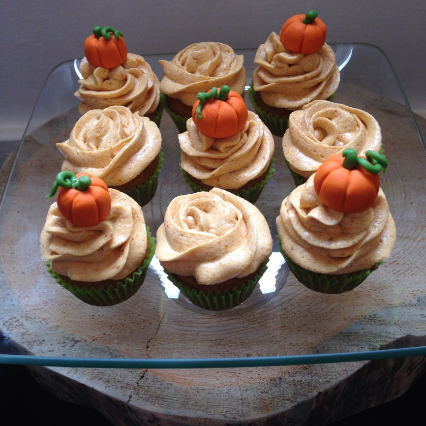 Gluten and dairy free pumpkin spice cupcakes