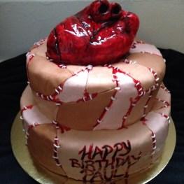 Gluten free double chocolate bleeding hart skin patch cake.