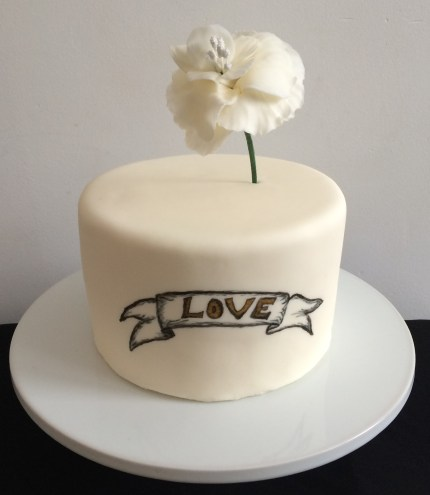 simple but sweet love cake