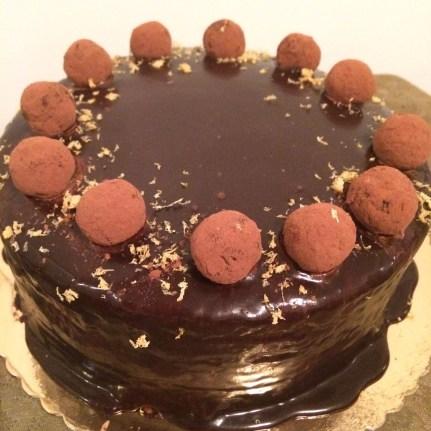 Chocolate orange truffel cake