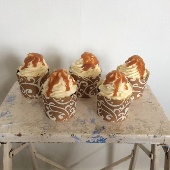 Chocolate salted caramel mini cakes