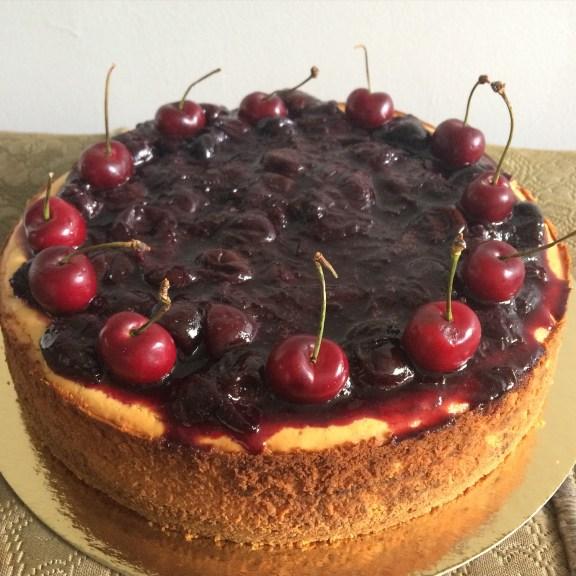 Homemade rich and creamy Cherry cheesecake