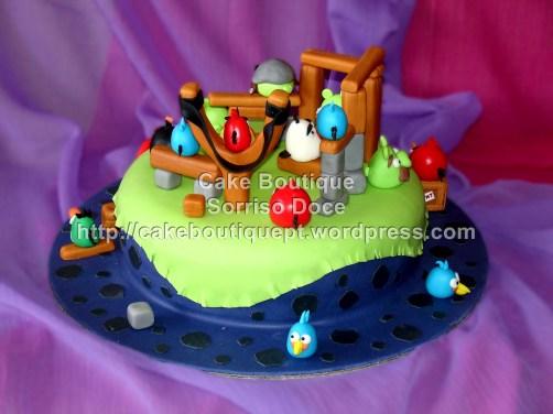 Bolo dos Angry Birds