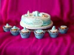 Bolo e Cupcakes para celebração